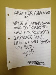 Gratitude challenge #1